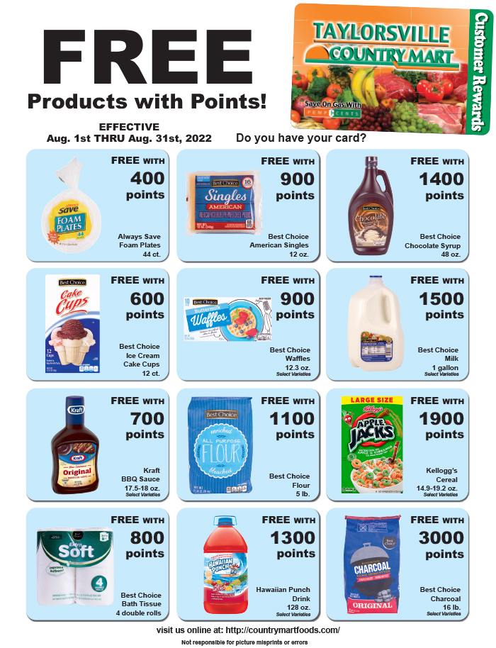 Taylorsville Country Mart Specials